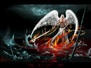 An illustration of the fallen angel