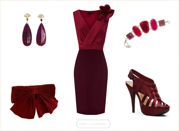 amazing-dressing-for-a-wedding-with-burgundy-red-dress-for-a-wedding-guest-in-wedding-dresses
